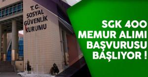 Sosyal Güvenlik Kurumu (SGK) 400 memur alımı başvuruları başlıyor