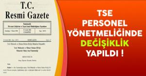 TSE Personel Yönetmeliğinde Değişiklik Yapılmasına Dair Yönetmelik Resmi Gazete'de Yayınlandı