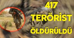 """TSK'dan Açıklama:""""417 Terörist Ölü Ele Geçirildi"""""""