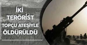 """TSK'dan Son Dakika Açıklaması :"""" İki Terörist Top Atışıyla Öldürüldü"""""""