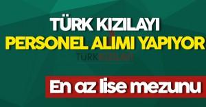 Türk Kızılayı  Personel Alımı Yapacak