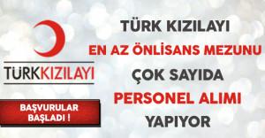 Türk Kızılayı Personel Alım İlanına Başvurular Devam Ediyor