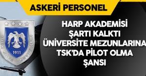 Üniversite Mezunları  Pilot Alımı için Başvurabilecek ( Harp Akademisi Şartı Kalktı)