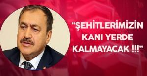 """Veysel Eroğlu :"""" Şehitlerimizin Kanı Yerde Kalmayacak!"""""""