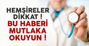 Yoğun Bakım Hemşireliği Sertifikalı Eğitim Programı Açılacak !