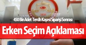 """YSK """"450 Bin Adet"""" Tercih Kaşesi Siparişi Sonrası Erken Seçim Açıklaması Yaptı"""