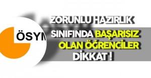 Zorunlu Yabancı Dil Sınıfında Başarısız Olan Öğrencilerin Türkçe Yükseköğretim Kurumlarına Yerleştirme İşlemleri Başladı