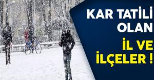 16 Aralık 2016 Kar Yağışından Okulların Tatil Olduğu İl ve İlçeler