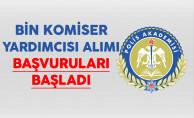 EGM Polis Akademisi Bin Komiser Yardımcısı Alımı Başvuruları Başladı