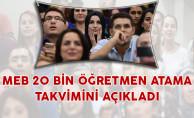 MEB 20 Bin Öğretmen Ataması Branş ve Kontenjan Dağılımı İle Atama Takvimini Açıkladı