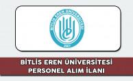 Bitlis Eren Üniversitesi Personel Alım İlanı 2017