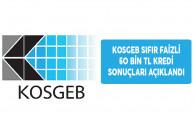 KOSGEB Sıfır Faizli 50 Bin TL Kredi Desteği Sonuçları Açıklandı