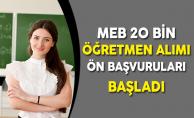 MEB 20 Bin 127 Öğretmen Alımı Ön Başvuruları Başladı