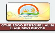 Tarım Bakanlığı 2500 Personel Alım İlanı Bekleniyor
