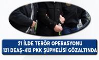 21 Şehirde Düzenlenen DEAŞ Operasyonu: 121 Gözaltı Var!!!