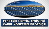 Elektrik Üretim Tesisleri Kabul Yönetmeliğinde Değişiklik Yapıldı