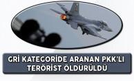 Gri Kategoride Bulunan PKK'lı Terörist Hava Harekatında Öldürüldü