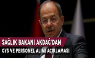 Sağlık Bakanı Akdağ'dan Çok Önemli GYS ve Personel Alımı Açıklaması