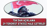 TSK: Son Bir Haftada PKK'lı Yöneticilerinde Bulunduğu Çok Sayıda Terörist Etkisiz Hale Getirildi