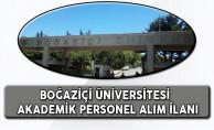 Boğaziçi Üniversitesi Akademik Personel Alım İlanı