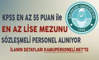 Balıkesir Üniversitesi En Az Lise Mezunu Personel Alımı Başvuruları Sona Eriyor