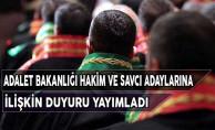 Adalet Bakanlığı Hakim ve Savcı Adaylarına İlişkin Duyuru Yayımladı