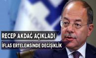 Başbakan Yardımcısı Akdağ'dan İflas Ertemele Açıklaması