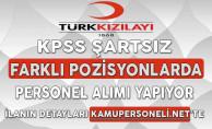 Türk Kızılayı Aralık Ayı Personel Alım İlanı