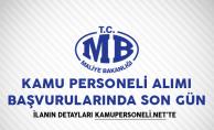 Maliye Bakanlığı Kamu Personeli Alımı Başvurularında Son Gün!