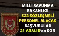Milli Savunma Bakanlığı 523 Sözleşmeli Personel İş İlanı