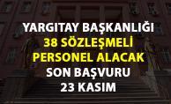 Yargıtay 38 sözleşmeli personel alımı için başvurular 23 Kasım#039;da sona eriyor