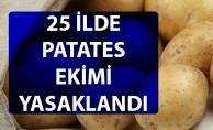 25 ilde patates üretimi neden yasaklandı?