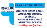 Hastane personel alımı iş ilanları yayımlandı! İŞKUR tarafından yüzlerce sağlık görevlisi alımı yapılacaktır!..