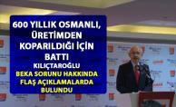 Kılıçdaroğlu, Türkiye'nin ekonomi durumu hakkında 'Üretim - Beka sorunu' ilişkisine dikkat çekti
