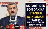 İstanbul seçim sonuçlarına son dakika AKP'den itiraz!.. AK Parti itiraz gerekçesini açıkladı!..