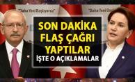 Kılıçdaroğlu ve Meral Akşener'den SON DAKİKA ortak açıklama