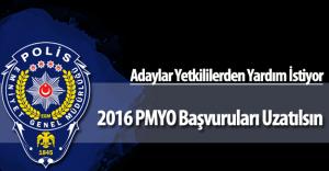"""Adaylar """"2016 PMYO Polis Adayı Alımı"""" Başvurularında Ek Süre Talep Ediyor"""
