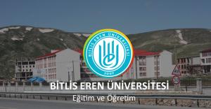 Bitlis Eren Üniversitesi Akademik Personel Alımı İlanı