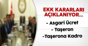 Ekonomi Koordinasyon Kurulu (EKK) Toplantısı Kararları Açıklanıyor