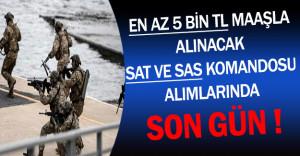 En Az 5 Bin TL Maaşla Alınacak SAT ve SAS Komandosu Başvurularında Son Gün !