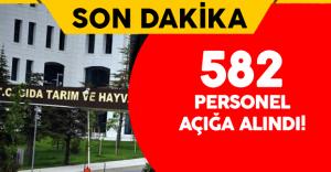 Gıda Tarım ve Hayvancılık Bakanlığı'nda 582 Personel Açığa Alındı