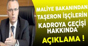 Maliye Bakanı Ağbal'dan Son Dakika Taşeron İşçilerin Kadroya Geçiş Açıklaması