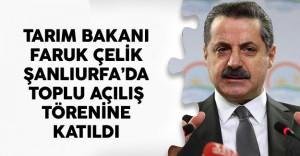 Tarım Bakanı Faruk Çelik Şanlıurfa'da Toplu Açılış Törenine Katıldı