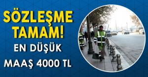 Toplu İş Sözleşmesi İmzalandı: En Düşük Maaş 4000 TL Oldu!