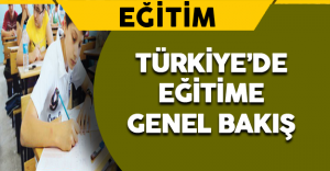 Türkiye'de Eğitime Genel Bakış