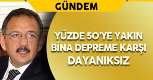 Türkiye'de Yüzde 50'ye Yakın Bina Depreme Karşı Dayanıksız