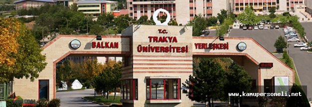 Trakya Üniversitesi Sözleşmeli Personel Alımı