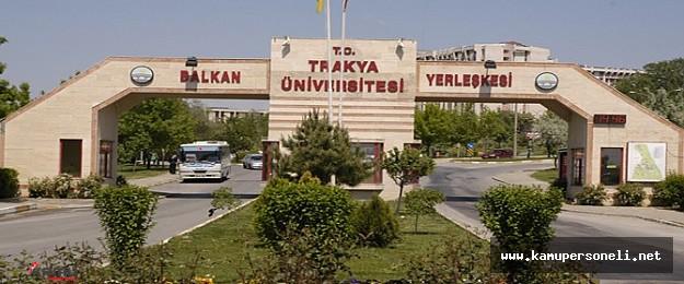 Trakya Üniversitesi Sözleşmeli Personel Alımı Yapıyor