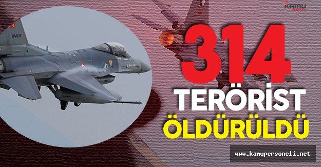 """TSK'dan Hakkari Açıklaması :"""" 314 Terörist Öldürüldü"""""""
