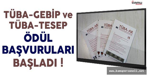 TÜBA-GEBİP ve TÜBA-TESEP Ödül Başvuruları Başladı